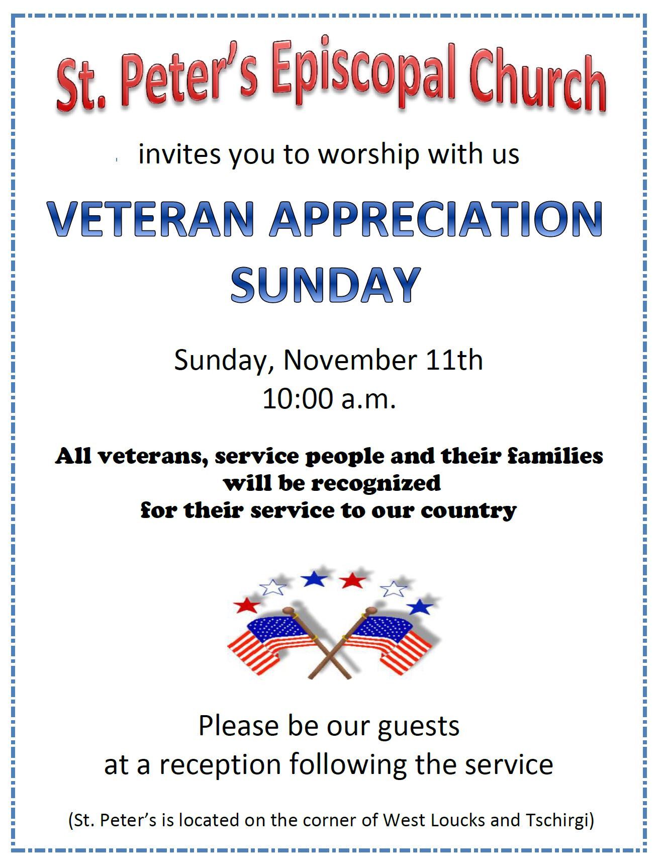St Peters Veterans Day Service November 11