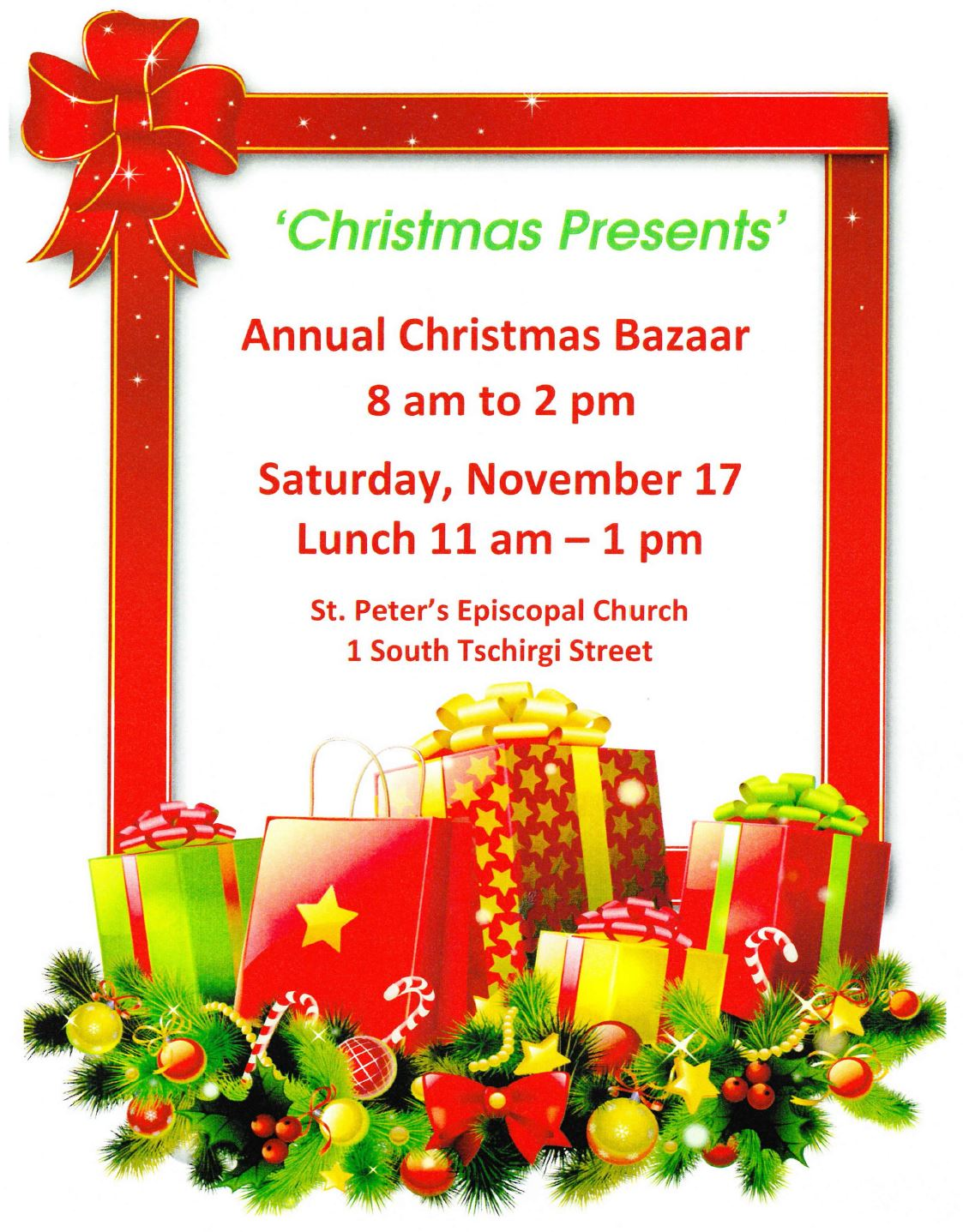 St Peters Christmas Bazaar November 17
